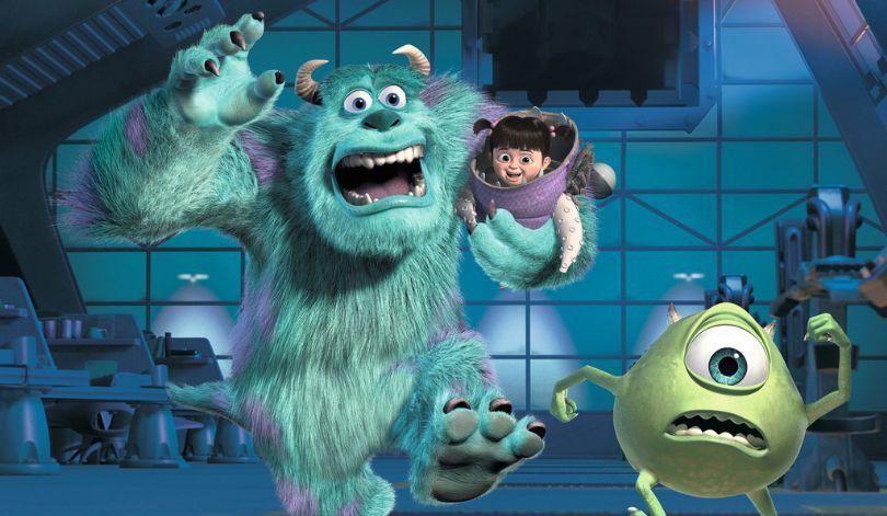 Sulley,Boo e Mike fugindo