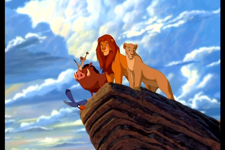 Zazu,Timao,Pumba,Simba e Nala