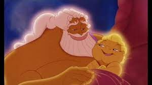 Zeus com Hercules bebê