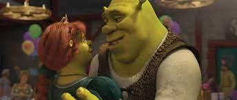 Fiona e Shrek na festa