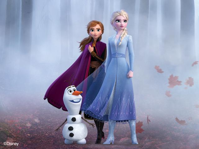 Ana,Elsa e Olaf
