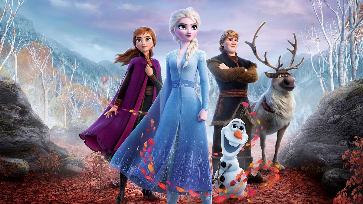 Ana,Elsa,Olaf,Kristoff e Sven