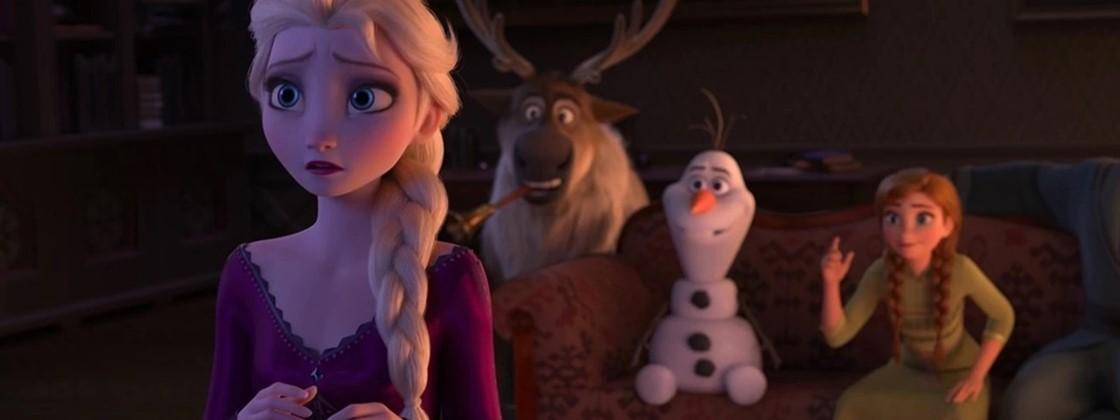 Elsa,Kristoff,Olaf e Ana
