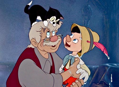 Figaro,Geppetto e Pinóquio