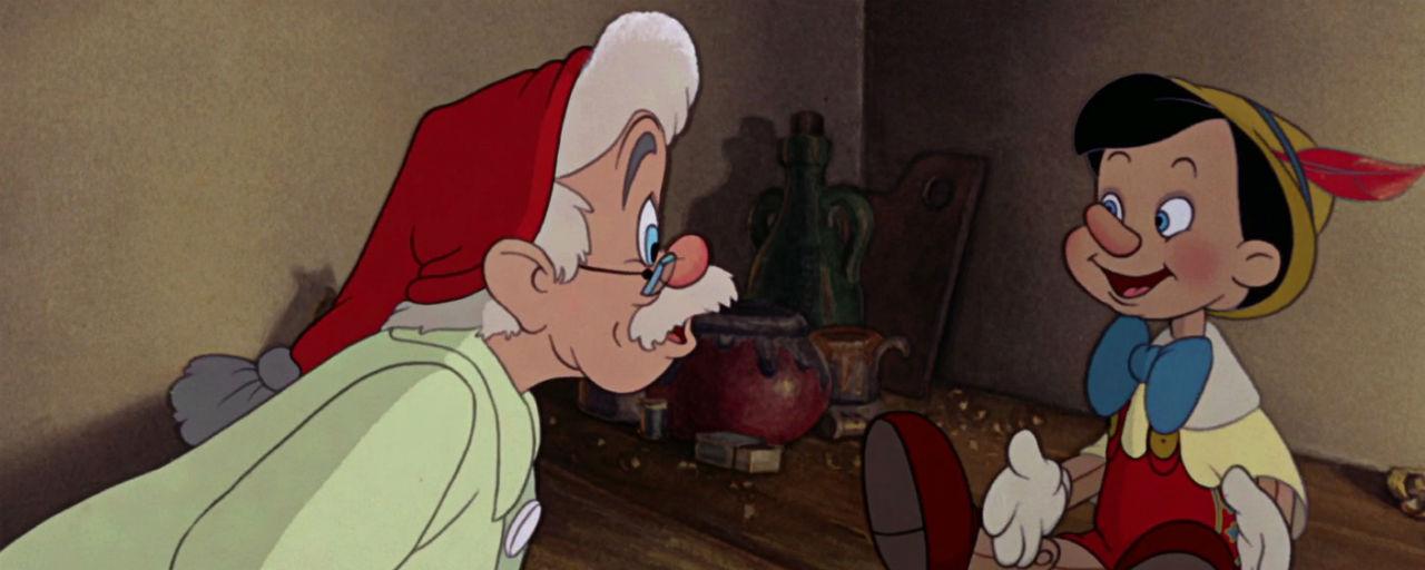 Geppetto descobrindo que Pinóquio criou vida