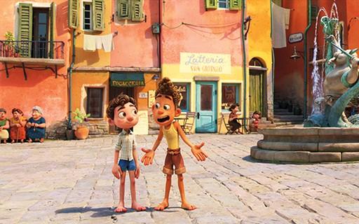 Luca e Alberto na vila