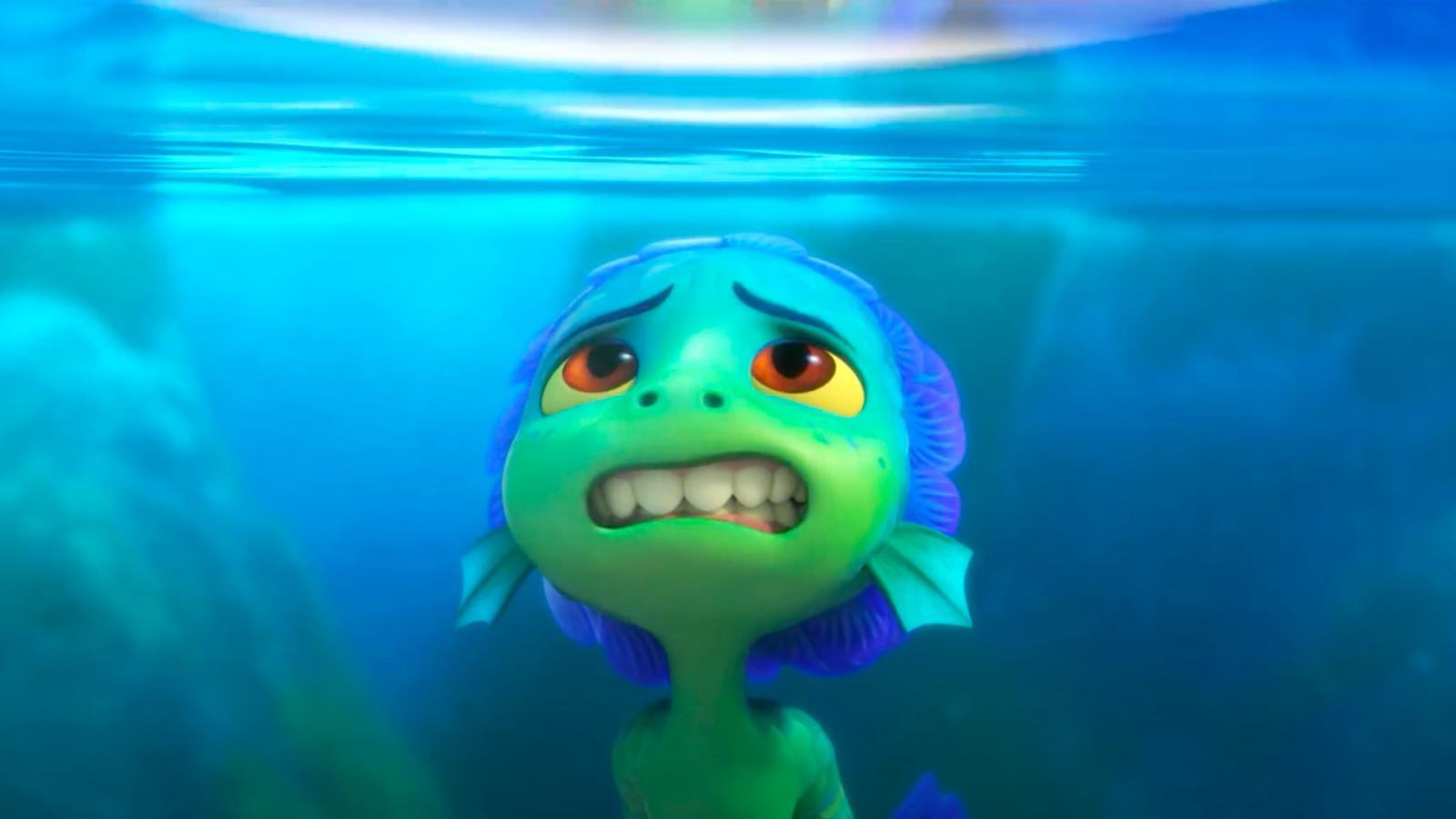 Luca na forma de monstro marinho