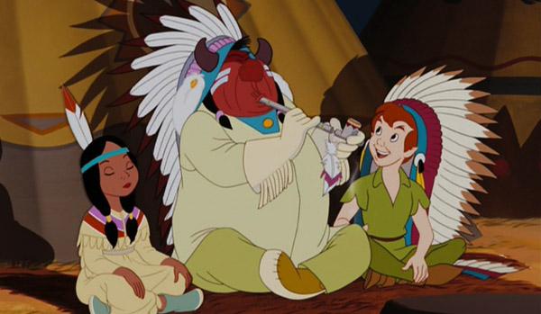 Peter Pan e os indios