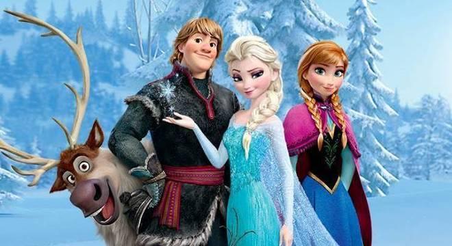Sven,Kristoff,Elsa e Ana