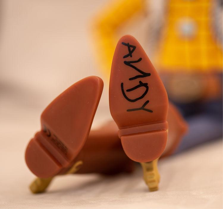 Marca do Andy nos brinquedos